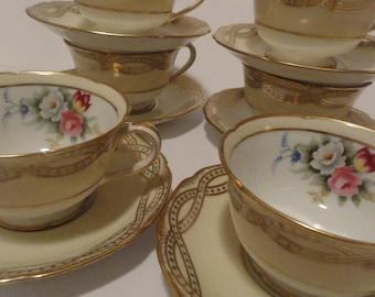 Noritake China Tea Cups and Saucers