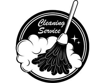 Cleaning Logo #3 Maid Service Housekeeper Housekeeping Clean House Dust Dusting.SVG .EPS .PNG Digital Clipart Vector Cricut Cutting Download