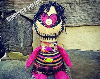 Dumpster Dollies OOAK Creepy Art Doll, Creepy Doll, Halloween Themed, Primitive, Monster, Punk