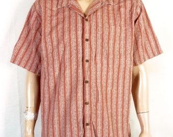 vtg 80s 90s L.L. Bean Men's Loop Collar Shirt Square Bottom 50s Rockabilly XL Rg