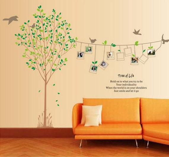 Tree of life Family photos wall decal Tree wall sticker Photo tree ...
