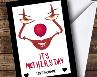 Personalised It Scary Silly Mothers Day Card