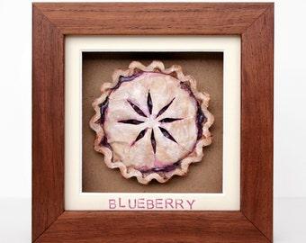 Framed Paper Blueberry Pie