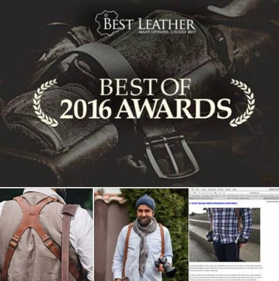 Photographer Leather harness, Luxury FULL GRAIN  Leather Multicamera Strap, Dual camera photographer strap, photographer gear,