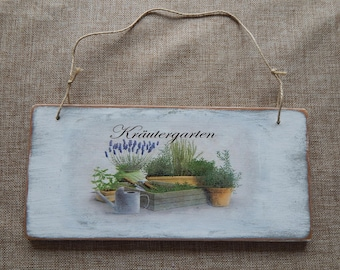 Wood Sign Garden sign Gartendeko sign lettering wall decoration Florentinesart Gift