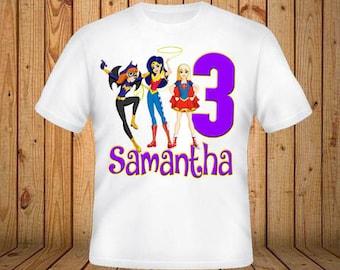DC Superhero Girls Birthday Shirt