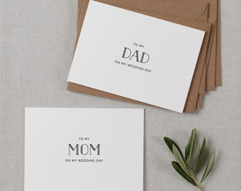 Wedding Card To My Mom On My Wedding Day, To My Dad On My Wedding Day, To My Parents Wedding Card, To My Mom, Wedding Card, 2 Cards, K5