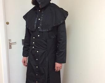 NEW! Black Cotton Drill Ghost/Nameless Ghoul Infestissumam Robe/Coat. Cosplay/LARP/