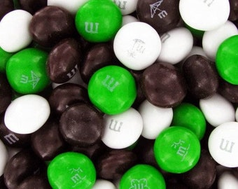 M&M Chocolate Candy - Black, Green, and White Blend - 1LB Bag