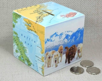 Custom Map Money Box - Choose your Location!