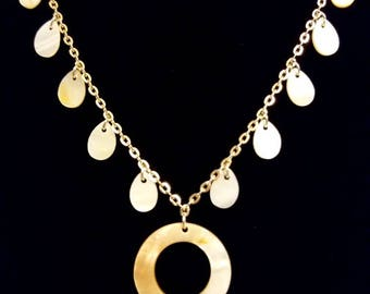 Silver, White, and Gold Charmed Necklace