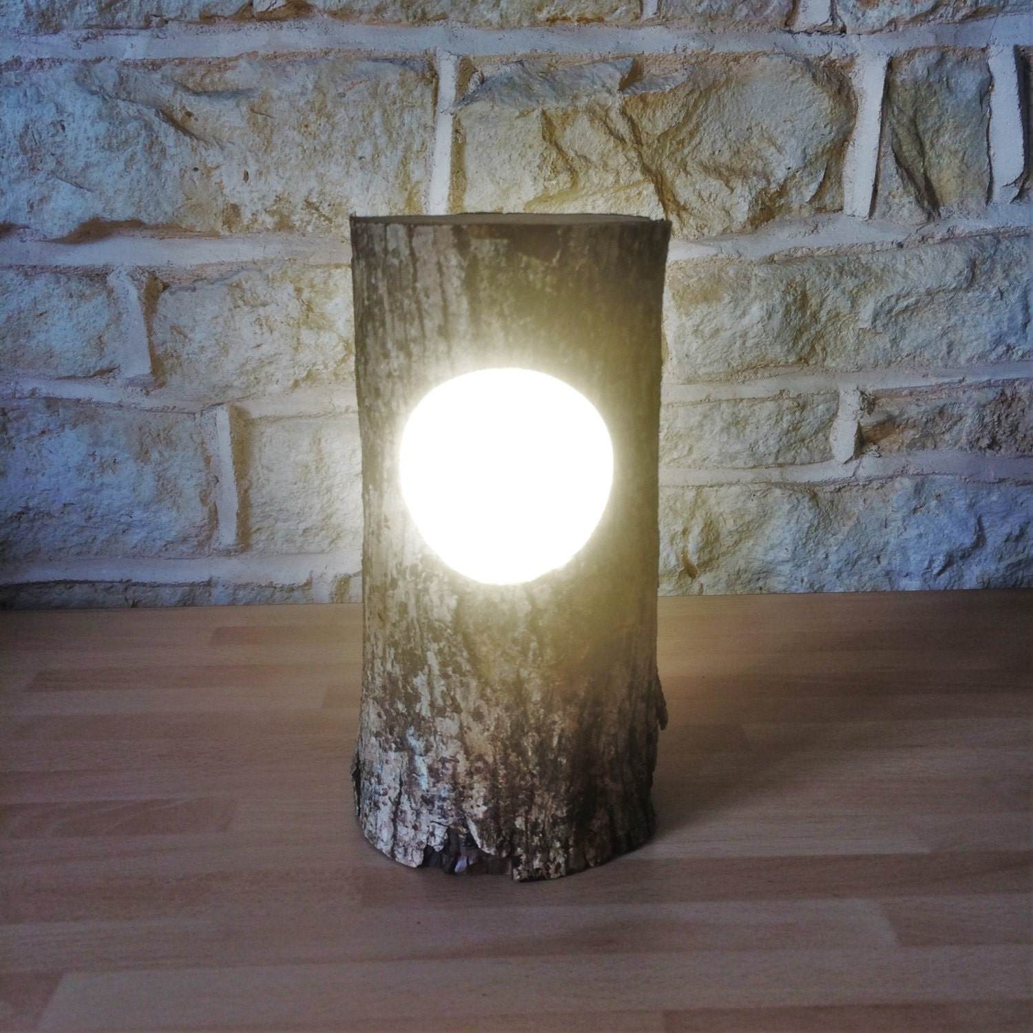 Log Light, Log Lamp, Log Lantern, Rustic Lamp, Rustic Light, Rustic  Lantern, Teacher Gift, Woodland Lamp