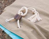 Khaki Canvas Longboard Bag Surf Sock Single Fin