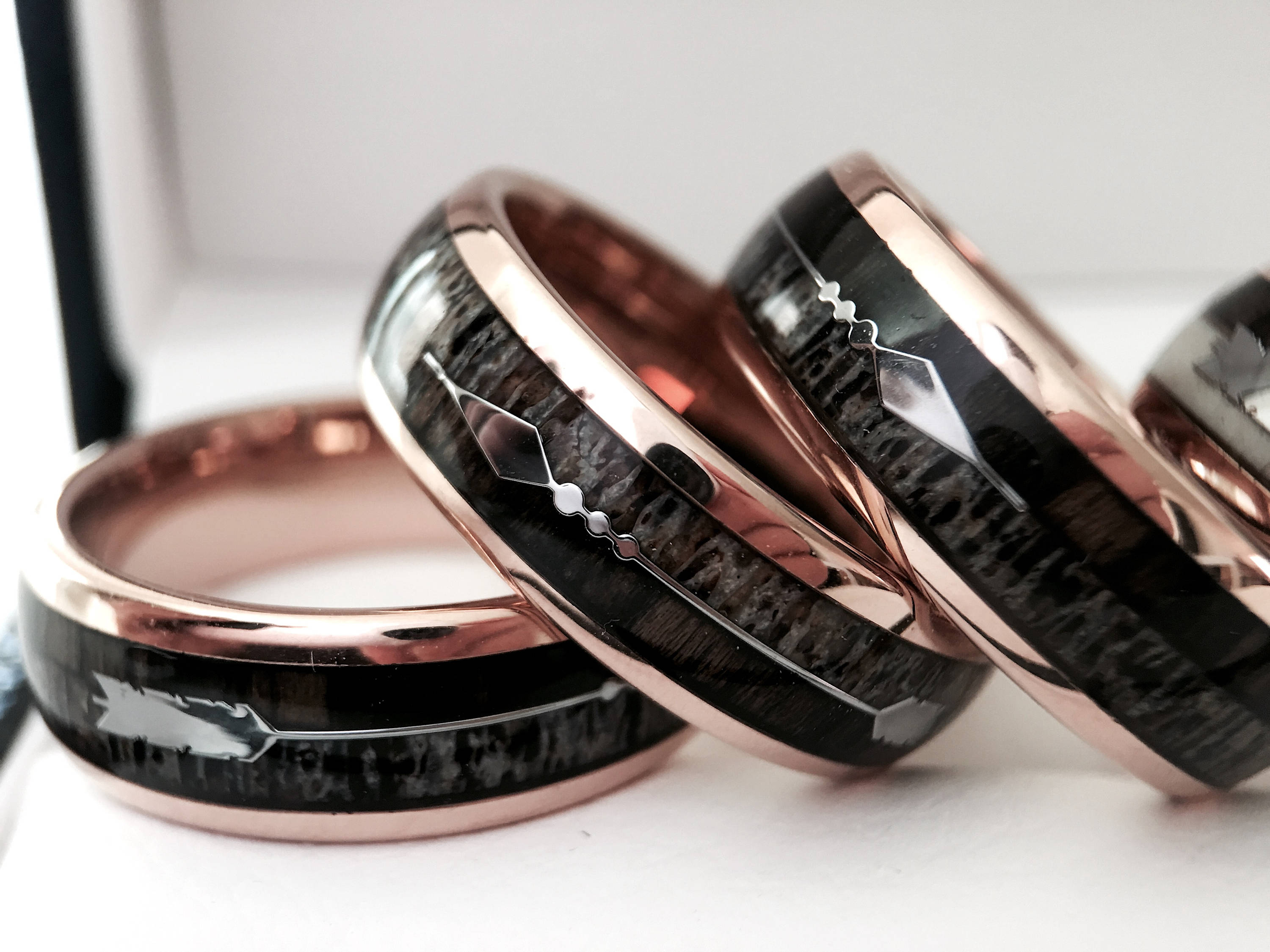 beautiful rings wedding deer luxury band awesome junction of the antler conquerer wood elk idea koa