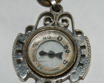1920s-'30s Era Watch Fob or Charm Compass -- Free Shipping!
