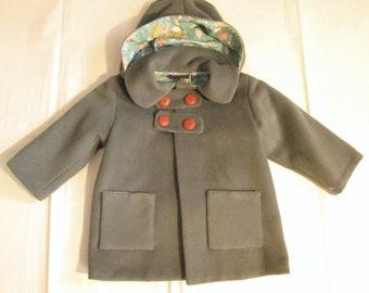 Hood-lined coat, 2 years