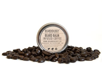 Coffee Infused  -  All Natural Beard Balm  -  1oz.