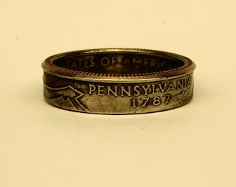 State Quarter Coin Ring