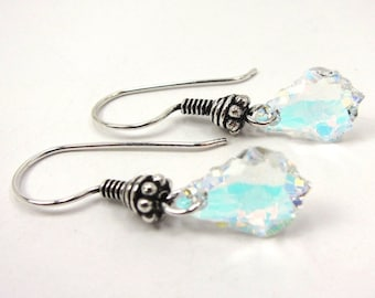 Crystal AB Baroque Swarovski Crystal Earrings
