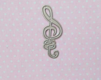 die cut treble clef. Die cut