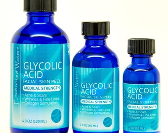 GLYCOLIC ACID Chemical Peel Kit- Anti Aging- Anti Wrinkle- Repair Acne Scars, Wrinkles, Brightens / Lightens Skin- Medical Grade - 100% Pure