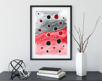 Abstract Painting, Home Decor, Minimalist Abstract, Watercolor Painting, Modern Painting, Original Painting, Wall Decor, Abstract Art