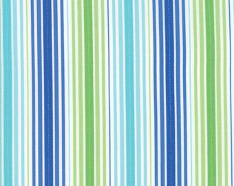 Rainy Day Blue Green Stripe fabric by Me & My Sister Designs for Moda Fabrics #22295-17 It's Pouring Stripe