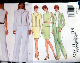 Butterick 5370 Linda Attard for Ellen Tracy in Size 18-20-22