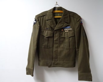 SALE!!! US Army Wool Jacket Occupation, Korean War Patches and Ribbons