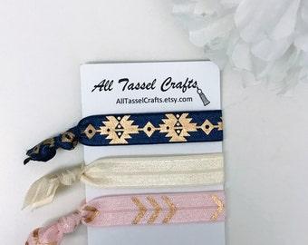 Set of 3 Elastic Hair Tie