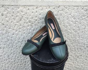 MARNI - Vintage Marni Ballerinas - Marni Flat Ballerinas - Marni Leather Shoes Size 37 IT
