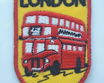 London Red Bus Patch Iron on Embroidered Patch 6.0 cm x 4.3 cm