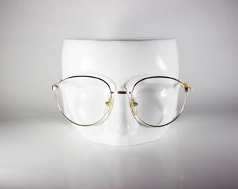 Marcolin Village 968 Unisex 52-19-135 Vintage Glasses Gold Metal NOS Deadstock - Free Shipping-MARF332J-2