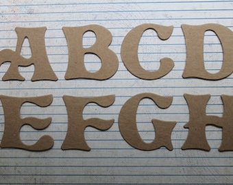 2 inch tall FAIRYTALE  chipboard uppercase alphabet ready to alter choose 26 or 52 letters