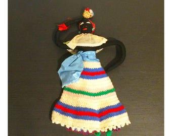 Vintage Handmade Jamaican Crocheted Doll