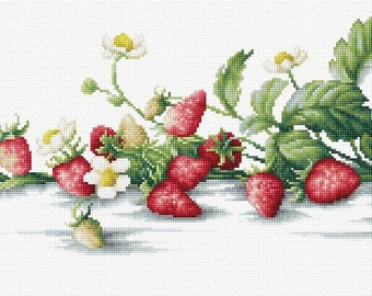 Etude with Strawberries SB2266 - Cross Stitch Kit by Luca-s