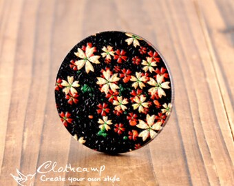 20% off -2Pcs 45mm Unique 3D Embossed Big Round Handmade Flower Wood Cut Cabochon  to make Necklaces, Bracelets-(WI-B-68)