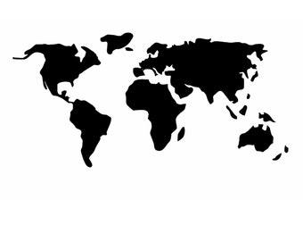 World Map Stencil Etsy