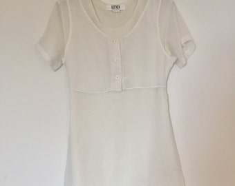 SALE!* White layered mini dress