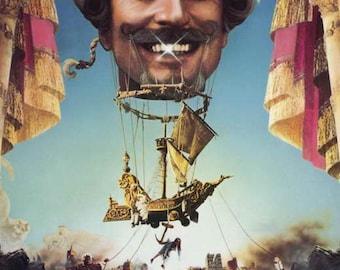 The Adventures of Baron Munchausen (1988) 11 x 17 movie poster Terry Gilliam fantasy film John Neville Sarah Polley Oliver Reed Uma Thurman