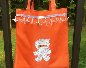 Embroidered, Personalized Halloween Bags