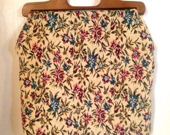Vintage Floral Shopping Bag