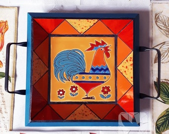 Rooster Mosaic Tray