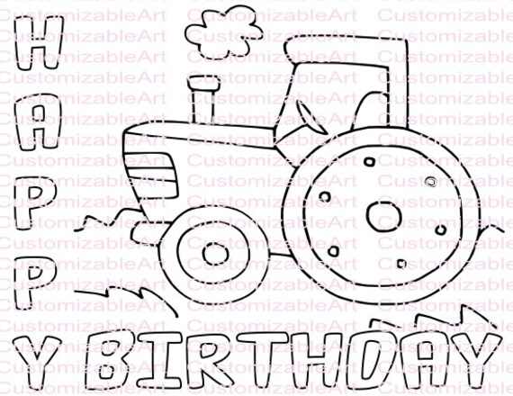 Tractor Party Favor Tractor Coloring Page Tractor Party