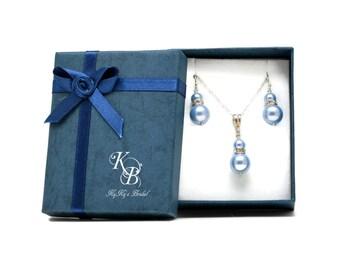 Something Blue Jewelry Set, Something Blue, Something New, Bridal Jewelry Set, Necklace and Earring Set, Bridal Shower Gift, Wedding, Bride