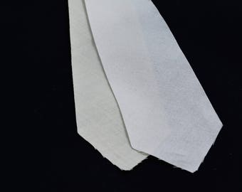 """PRE-CUT 3 1/4"""" wide - 2 layer cotton + wool necktie interfacing / interlining, AC Ter Kuile, finest available, Made Netherlands"""