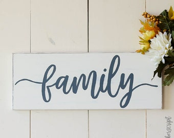 Farmhouse Gallery Wall Sign l Fixer Upper Family Sign l Gallery Wall Decor Family l Farmhouse Family Sign