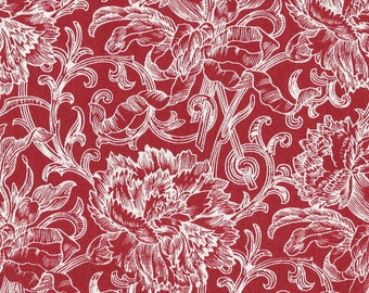 Timeless Treasures - Anna Lena Series - Red White Print - By the Yard