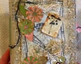 3 Blooms: Made To Order Vintage style Junk Journal