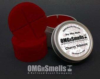 Cherry Tobacco - (Cherry, Pipe Tobacco & Smoke) - Soy Wax Melts - Scented Wax Melts